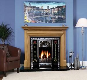Genova solid oak fireplaces