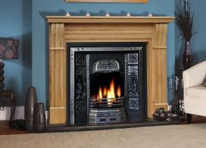 Irish Corbel Solid Oak Fireplace
