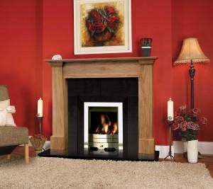Vigo Solid Oak Fireplace